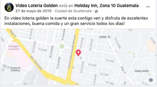La video Lotería Golden era un  negocio utilizado para lavar dinero del narco. (Foto: Facebook)