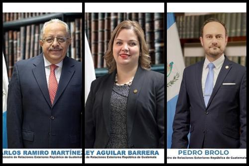 Carlos Martínez, Shirley Aguilar y Pedro Brolo son tres de los cinco integrantes de la delegación que viajó  a Rusia. (Fotos: cancillería)