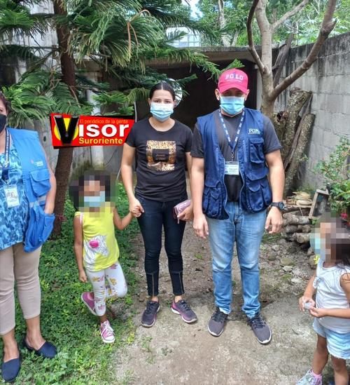 Las niñas fueron rescatadas y serán evaluadas para posteriormente buscarles un recurso familiar idóneo. (Foto: Visor GT)