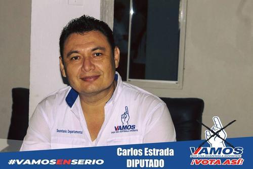 Carlos Estrada fue candidato a diputado del partido Vamos por Izabal.