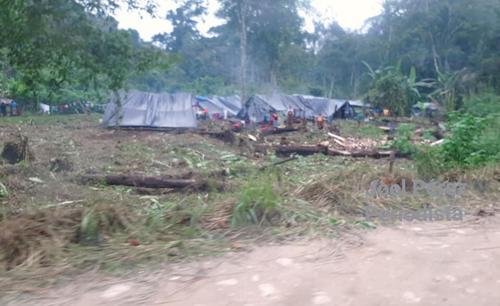 Unas 20 familias invadieron un área. (Foto: Twitter Asociación para la Defensa de la Propiedad Privada)