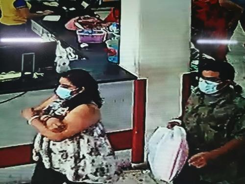 Las fotografías de los delincuentes fueron compartidas en redes sociales.