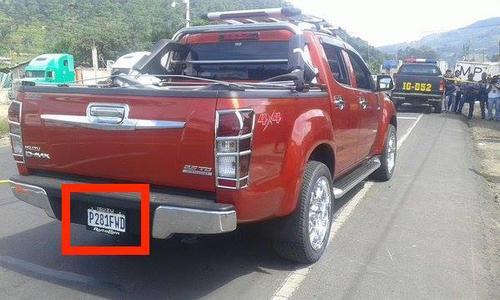 Este vehículo fue utilizado para transportar una fuerte suma de dinero con procedencia irregular y por el abogado Mynor Moto. (Foto: Noticiero Starnews)