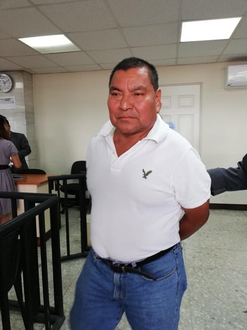 Santos López Alonzo durante una audiencia en tribunales. (Foto: FGER)