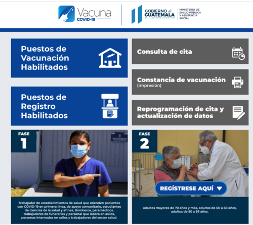 Los guatemaltecos deberán ingresar en el rubro que dice Fase 2. (Foto: Ministerio de Salud)