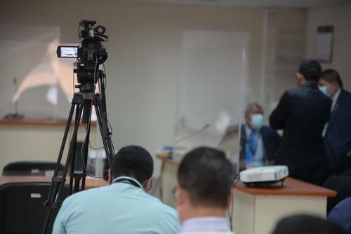 Personal del MP grabó la audiencia de primera declaración, algo inusual en las diligencias. (Foto: Wilder López/Soy502)