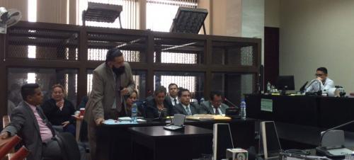 Otto Gómez en una audiencia con Marvin Montiel Marín alias El Taquero. (Foto: archivo)