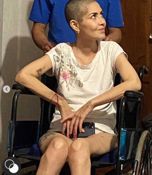 María Renée Pérez durante su recuperación tras un shock séptico. (Foto: Instagram)