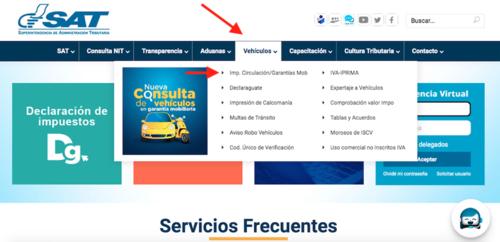 vehículo, activo, Guatemala, circulación, SAT