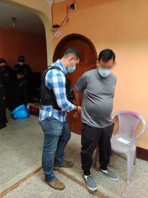 Eddy Fernando Castañeda Barrera al momento de su detención. (Foto: MP)