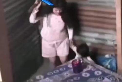 La niña recibió cinchazos de su mamá.  (Foto: captura de video)