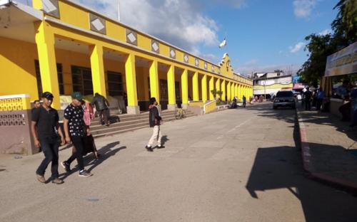Vista del frente de la Municipalidad de Tactic, Alta Verapaz. (Foto: cortesía)