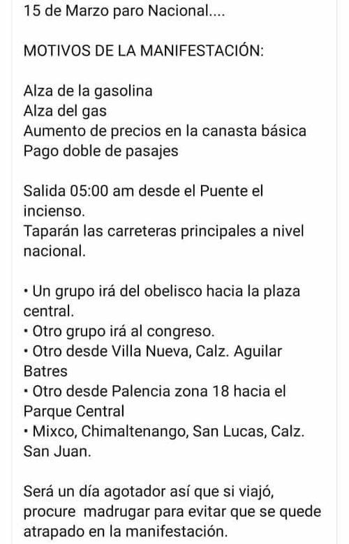 protesta, manifestación, guatemala, zona 10, trébol, roosevelt