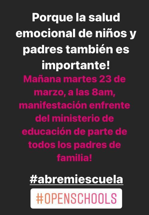 abran las escuelas, open schools, manifestación, ministerio de educación, guatemala