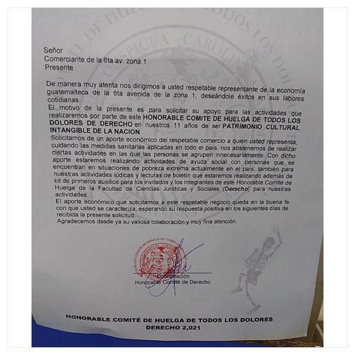 Denuncian extorsión por supuestos sancarlistas de Derecho, huelga de dolores, encapuchados, huelga de todos los dolores, estudiantes de derecho, sancarlistas de derechos, guatemala, soy502