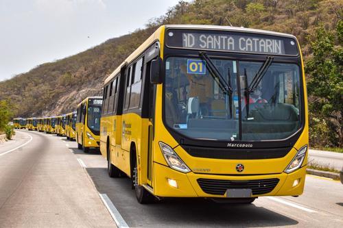 La caravana se desplazó desde por la ruta del Atlántico hacia el centro del país. (Foto: Muni Santa Catarina Pinula)