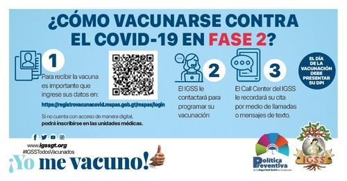 vacuna covid, afiliados igss, vacunación