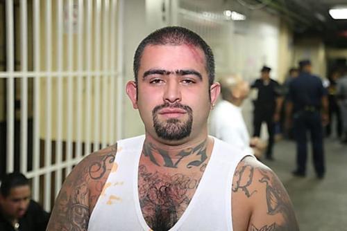 """""""Lobo"""" en una foto de archivo de la última ocasión que fue traslado a tribunales."""
