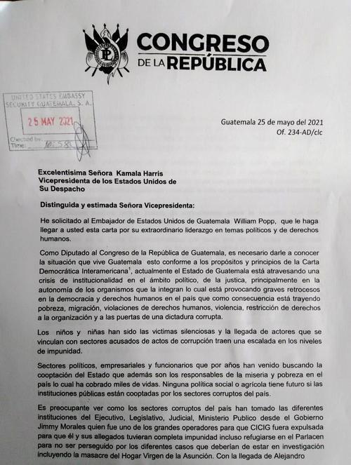 Aldo Dávila, Kamala Harris, estados unidos