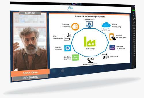 Kamwise ayuda a las presentaciones en reuniones virtuales. (Foto: Kamwise)