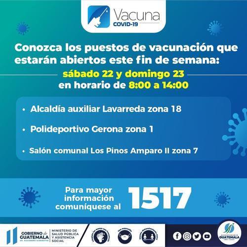 vacunación covid, centros vacunación, fin de semana