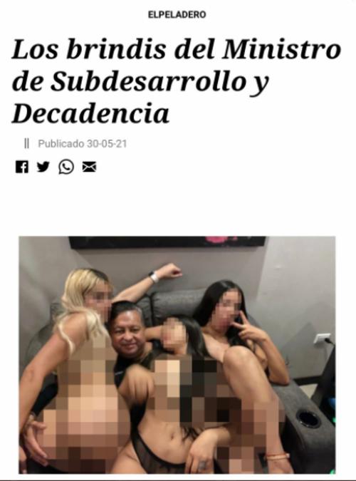 """La imagen fue difundida por """"El Peladero"""". (Foto: elPeriódico)"""