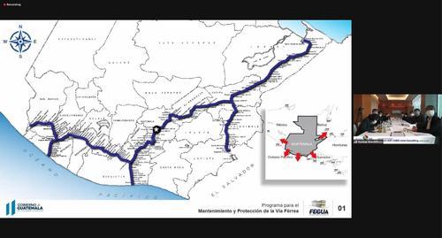 Este es el trayecto que tendría la vía férrea para implementar el tren rápido. (Gráfica: Fegua)