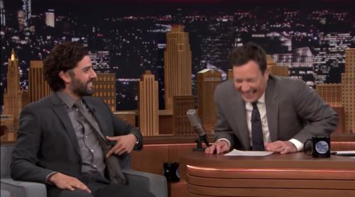 Oscar Isaac talking about his Guatemalan uncle on Jimmy Fallon's show.  (Photo: Screenshot)
