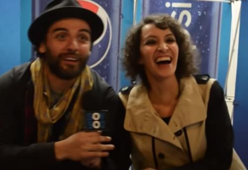 Oscar Isaac and Gaby Moreno chatting for Soy502.  (Photo: Screenshot)