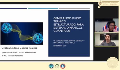 Emiliano durante el Congreso Estudiantil de Física y Matemática de Guatemala. (Foto: Oficial)