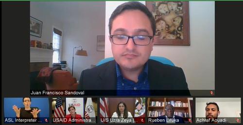 Sandoval indicó que la corrupción genera impacto financiero que afecta a los ciudadanos. (Foto: captura de pantalla)