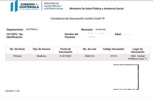 Las fallas en el sistema pueden provocar que un vacunado no puede obtener su certificado. (Foto: archivo/Soy502)