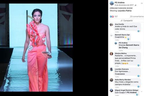 Andrea Porta cerró su perfil de Facebook, horas después de hacerse publica la designación. La imagen pudo captarse antes del cierre de su muro en la red social.