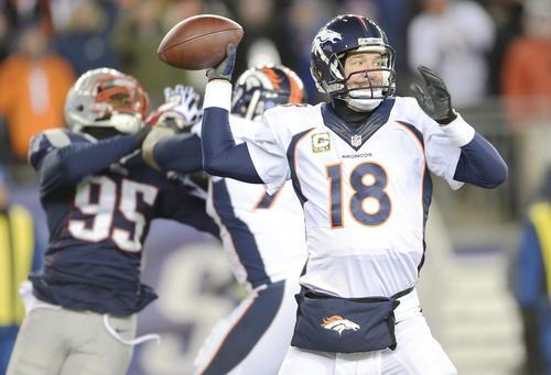 Los Broncos de Denver, guiados por Peyton Manning, son candidatos para llegar a la final del Super Bowl