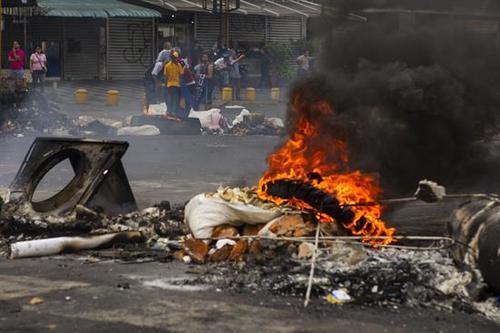 Arde la calle en Venezuela