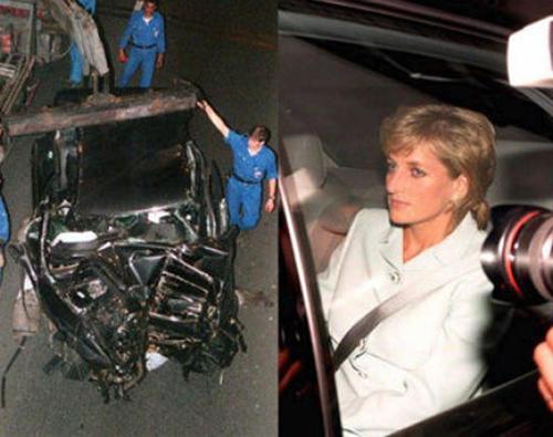 """Imagen del accidente que cobró la vida de """"Lady Di"""" el 31 de agosto de 1997 en París"""