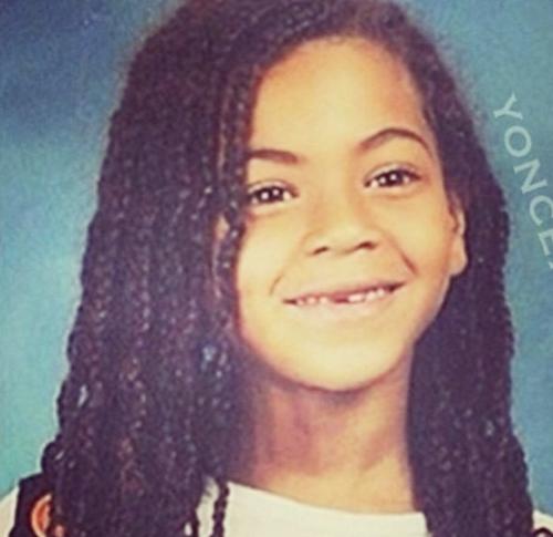 Beyoncé cuando aún era una adorable niña.
