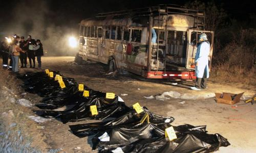 Vista de la escena del crimen del 8 de noviembre de 2008 en una finca en Río Hondo, Zacapa, donde fueron calcinadas 16 turistas. (Foto: Archivo/EFE)