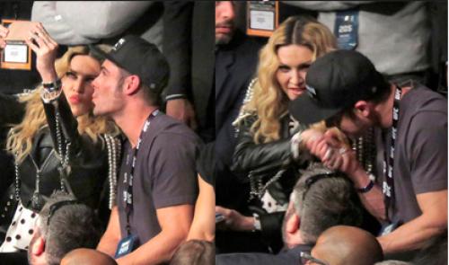 Efron y Madonna tontearon un poco en el encuentro. (Foto: ecuavisa.com)