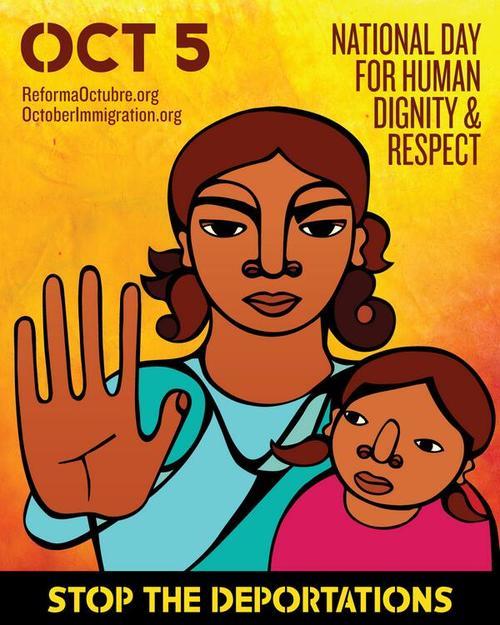 Poster de la campaña contra las deportaciones