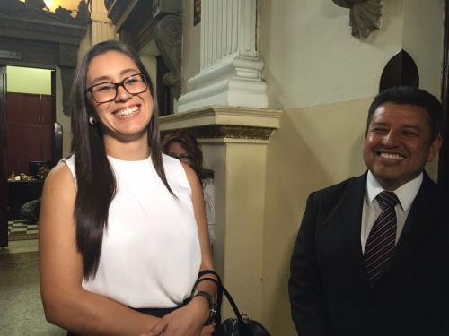 Karina Paz será nombrada diputada de la UNE. (Foto: Jesús Alfonso/Soy502)