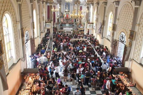 El Santuario de Guadalupe en la zona 1 capitalina se ve abarrotado cada año con la celebración de Nuestra Señora de Guadalupe