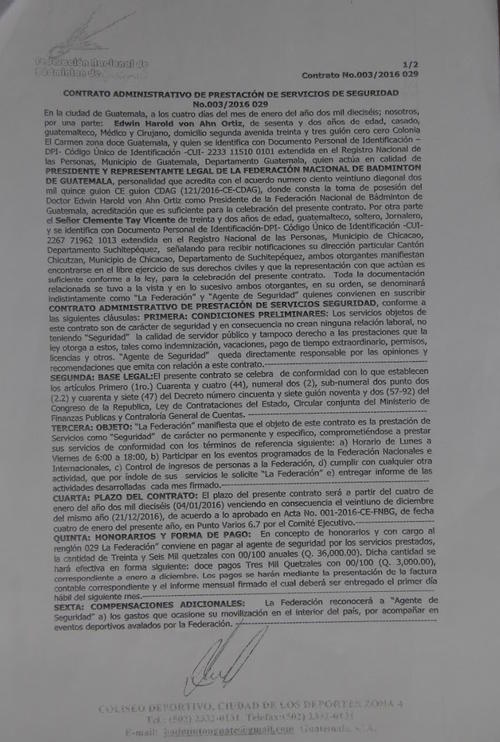contrato 029 de Tay Vicente foto