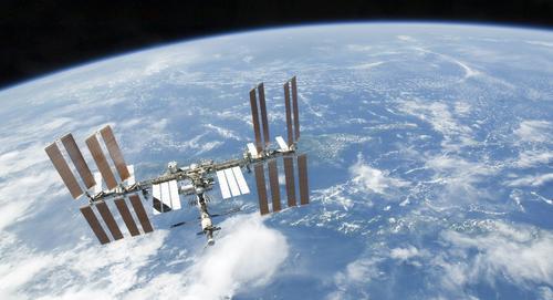 Fotografía de la Estación Espacial Internacional.