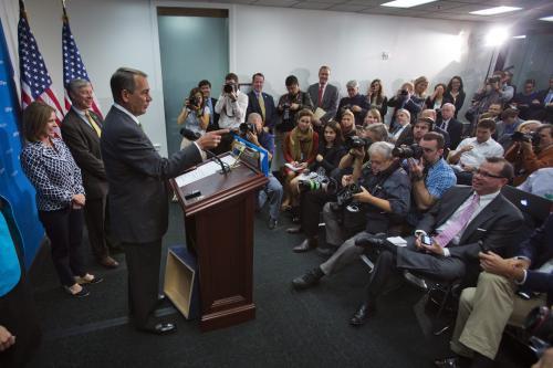 John Boehner, presidente de la Cámara Baja
