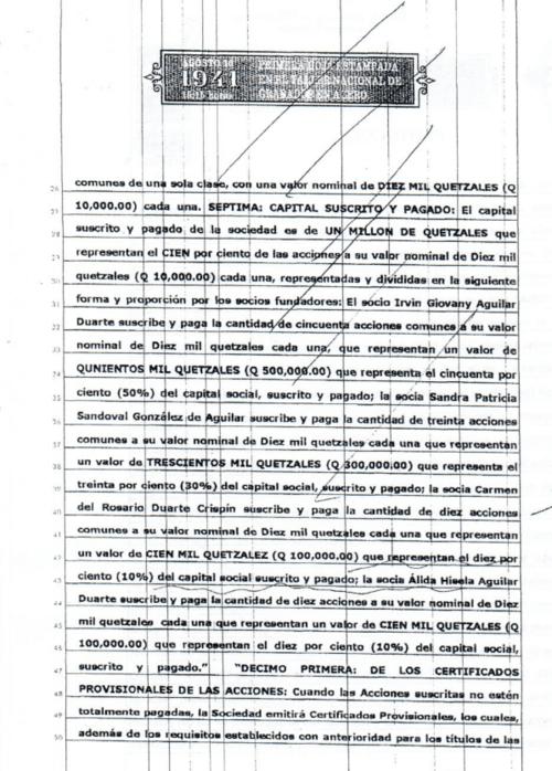 El listado de accionistas de Keytone, S.A. incluye a la diputada, al supuesto narcotraficante y a familiares de este. (Foto: José Miguel Castañeda/Soy502)