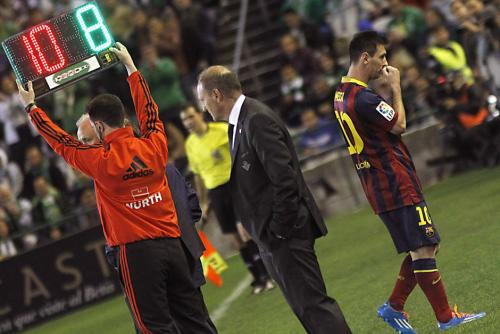 La última lesión grave de Messi fue el 10 de noviembre en el juego de la primera vuelta ante el Betis