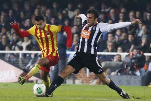 Pedro tuvo un buen juego al anotar un doblete ante el Cartagena en la Copa del Rey.