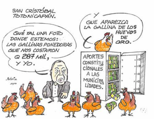Gallinas De Huevos De Oro Alcalde Gasta Aporte Constitucional En