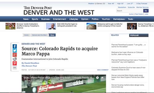 Denver Post Marco Pappa foto